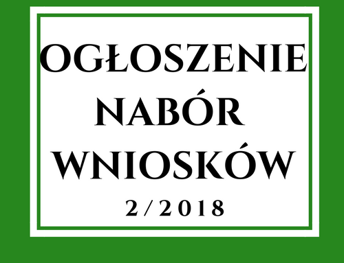 Ogłoszenie o naborze wniosków nr 2/2018 w zakresie rozwijania działalności gospodarczej